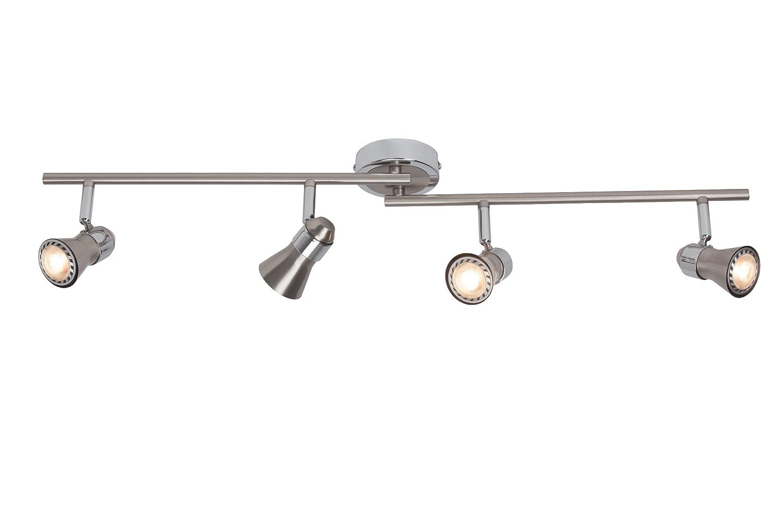 Brilliant Sanny LED Spotrohr, 4-flammig, drehbar, 4x LED GU10 5W inklusiv, eisen/chrom G15432/77