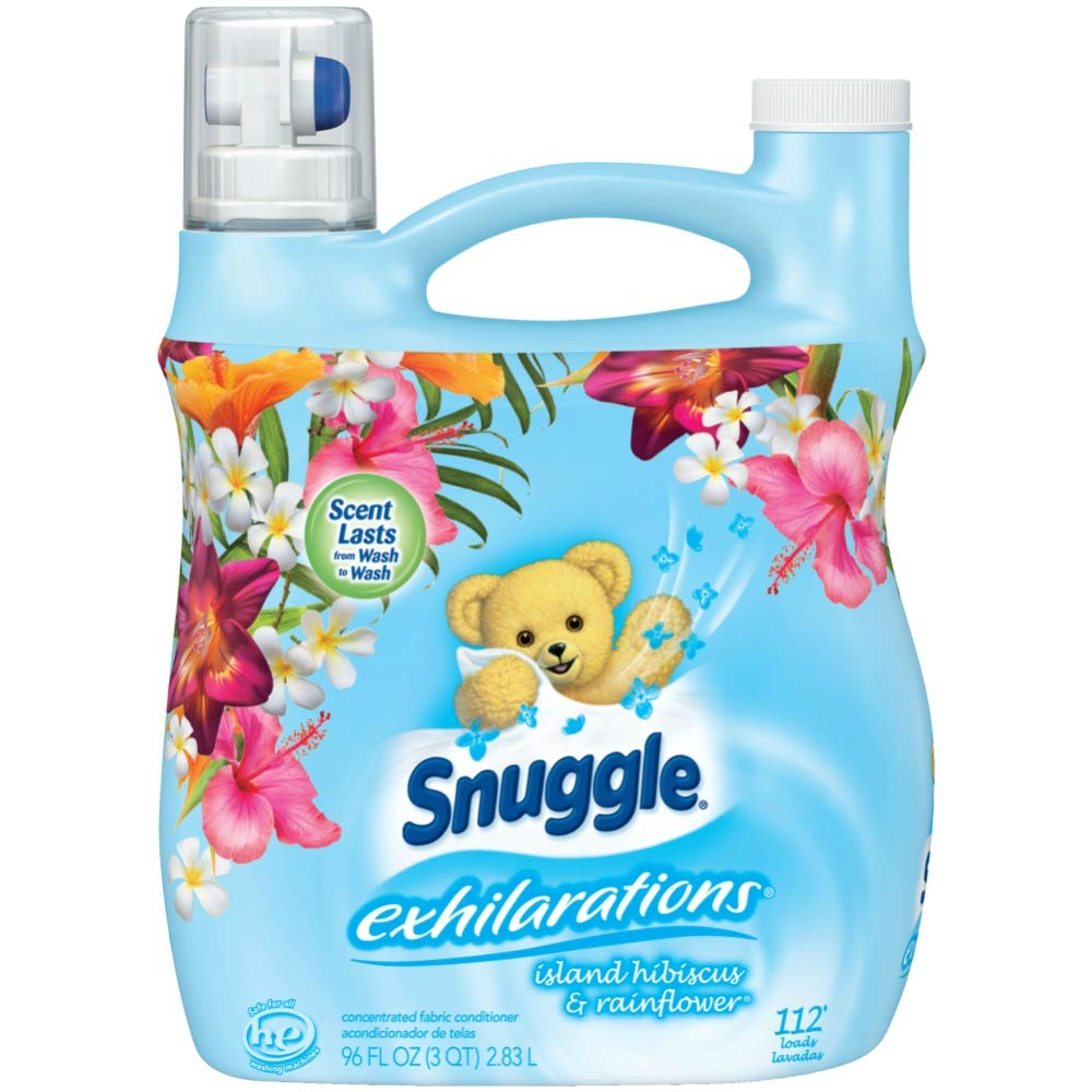 Amazon.com: Snuggle Exhilarations Island Hibiscus & Rainflower Concentrated Liquid Fabric Softener, 96 Oz, 112 Loads: Kitchen & Dining