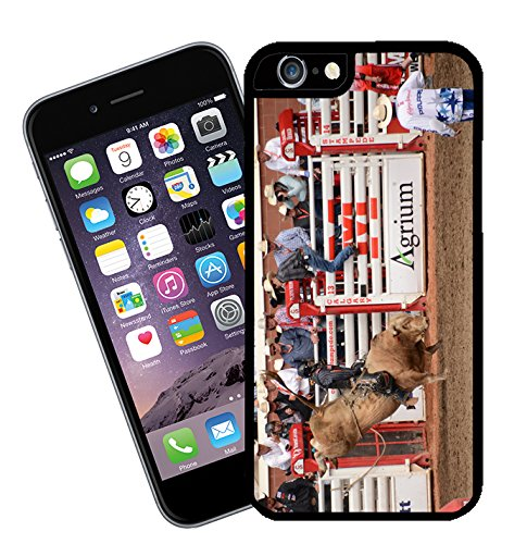 Bull Riding at Calgary Stampede in Canada 01 iPhone case - This cover will fit Apple model iPhone 6 - By Eclipse Gift Ideas