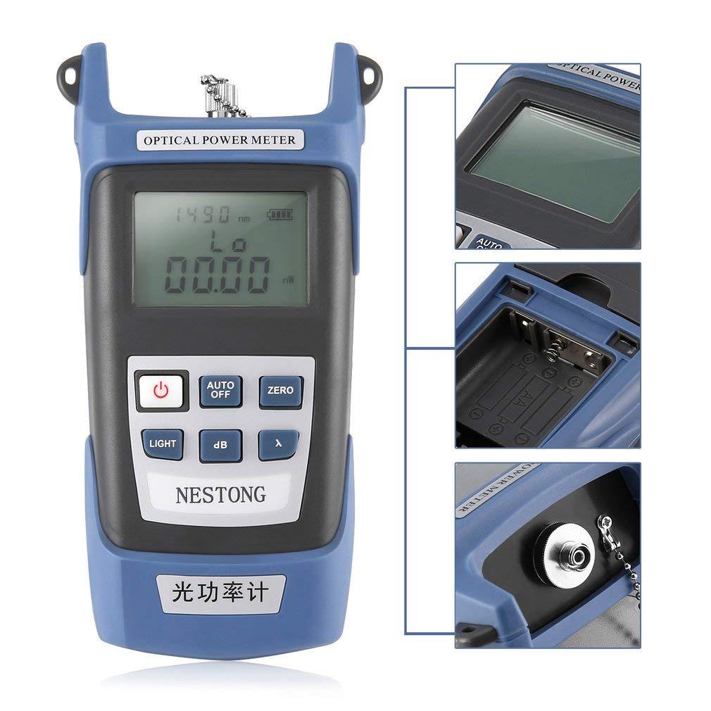 Medidor de Potencia de Fibra óptica de Alta precisión -70 ~ + 10dBm SC/FC/ST Connector: Amazon.es: Hogar