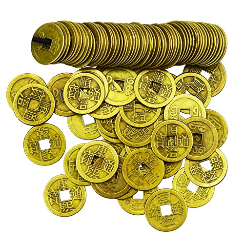 - Motanar 200 Pieces 1 Inch Chinese Fortune Coins Feng Shui I-Ching Coins Chinese Good Luck Coins Ancient Chinese Dynasty Time Coin
