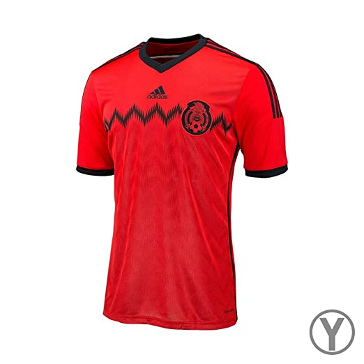 Amazon.com  Adidas Youth Mexico 2014 Away Red Black Jersey  Sports ... 28fdce964