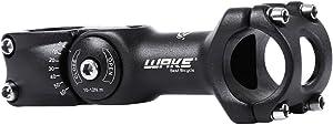 Wake MTB Stem 31.8 90mm 110mm 0-60 Degree Adjustable Bike Stem Mountain Bike Stem Short Handlebar Stem for Bicycle, Road Bike, MTB, BMX, Cycling (Aluminum Alloy, Lightweight, Black)