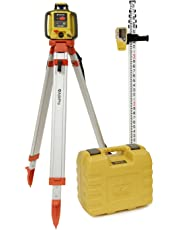 Topcon RL-H4C Rotary Laser Kit, Includes: RL-H4C Self Leveling Rotary Laser w/Dry Battery (57177) - AdirPro Aluminum Flat Head Tripod - AdirPro 14-ft Aluminum Grade Rod - 10ths with Carrying Case