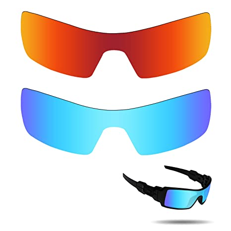 c040a30345 Fiskr Anti-saltwater Polarized Replacement Lenses for Oakley Oil Rig  Sunglasses 2 Pairs Packed (