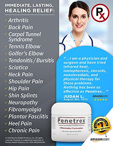 Penetrex Pain Relief Therapy [2 Oz] :: Breakthrough (Pat. Pend.) for Arthritis, Back Pain, Tennis Elbow, Fibromyalgia, Sciatica, Plantar Fasciitis, Carpal Tunnel, Sore Muscles, Joints & Chronic Pain