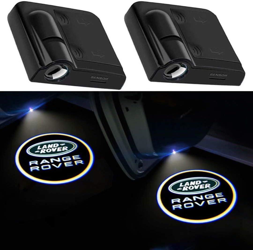 2Pcs of Car Door Lights Logo Projector, Universal Wireless Car Door Led Projector Lights, Upgraded Car Door Welcome Logo Projector Lights for All Car Models (FOR RANGE R0VER)