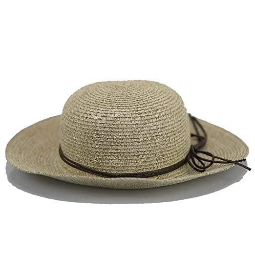 New Womens Floppy Straw Hat - Brim Sun Hat Women Summer Beach Cap Foldable  Fedora Hats 6126b13630e2
