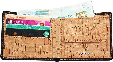Boshiho Vegan Wallet Rfid Blocking Purse Slim With Coin Pocket... Cork Wallet