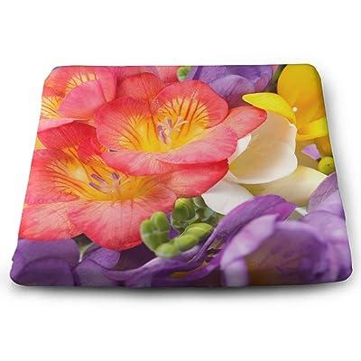 Tinmun Square Cushion, Beautiful Flowers Freesia Garden Spring Large Pouf Floor Pillow Cushion for Home Decor Garden Party: Home & Kitchen