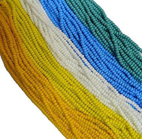 Czech 8/0 Glass Seed Beads Opaque Tropical Colors 5 Hank Mix Preciosa Jablonex