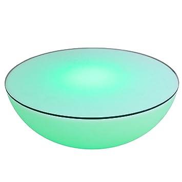 Extravaganter Couchtisch OZONE weiß Multi LED Beleuchtung mit ...