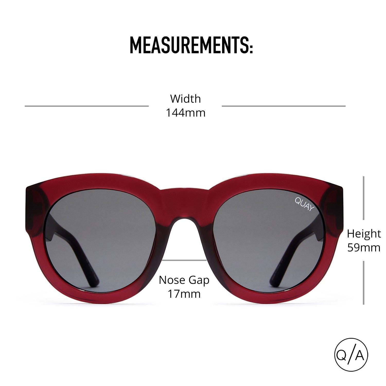bdef9e977c Amazon.com  Quay Australia IF ONLY Women s Sunglasses Round Sunnies -  Red Smoke  Clothing