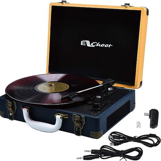 Amazon.com: Reproductor de grabación con Bluetooth giratorio ...