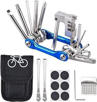 Oziral Kit Reparación Herramientas Bicicleta 11 en 1 Herramienta ...