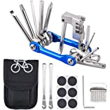 Oziral Kit Reparación Herramientas Bicicleta 11 en 1 Herramienta multifunción (con Separador Cadena) con Kit de Parche y…