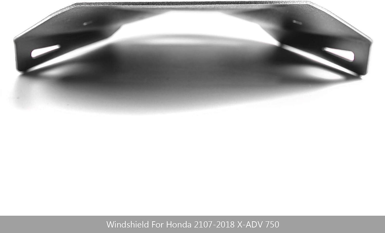 Sport Windschutzscheibe Einstellbare Windschutzscheibe mit Aluminiumlegierung Aerodynamisches Design f/ür Hon-da X-ADV 750 2017-2018 Topteng Motorrad Windschutzscheibe