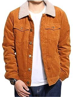 2b27f134b6c6 LifeHe Men Faux Fur Lined Corduroy Winter Thicken Warm Wool Blend Jacket  Coat