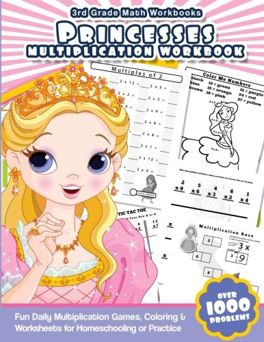 3rd Grade Math Workbooks Princesses Multiplication Workbook: Fun ...