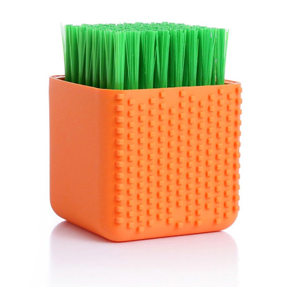 TrifyCor spazzola di pulizia di Spazzolino da biancheria intima Spazzolino da biancheria intima in silicone A doppio uso strumento di pulizia di capelli Morbido