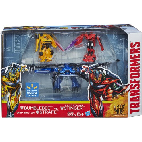 Transformers 4 Age of Extinction Exclusive Action Figure 3-Pack Bumblebee & Strafe Vs Decepticon (Transformers Age Of Extinction Bumblebee Toy)