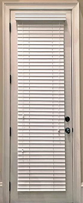 Custom Made Faux Wood Horizontal Window Blinds For Doors Snow White Stark