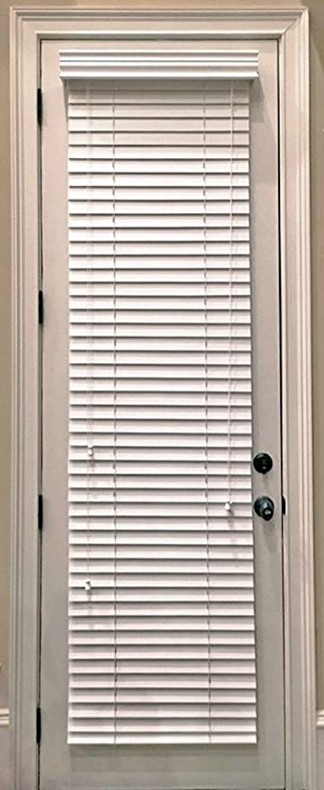 Genial Custom Made, Faux Wood Horizontal Window Blinds For Doors, Snow White (Stark