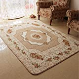 Judy Dre am European Style Living Room Area Rugs Fashion Modern Flowers Bedroom Carpet Soft Baby Crawling Mat Children's Game Doormat (47″X71″, Beige) Review