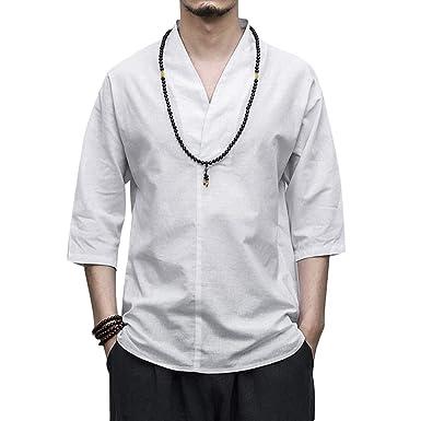 Kimono Homme Veste 34 Chemise Pyjama Q5rj4a3l Style Manches Japonais yYbf6g7