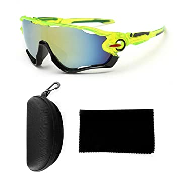 Pawaca Gafas de sol polarizadas funda y tela, protección UV400 irrompible para hombre, marco