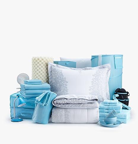 54PC la buena vida de doble XL College dormitorio habitación cama (buena vibes-light azul): Amazon.es: Hogar