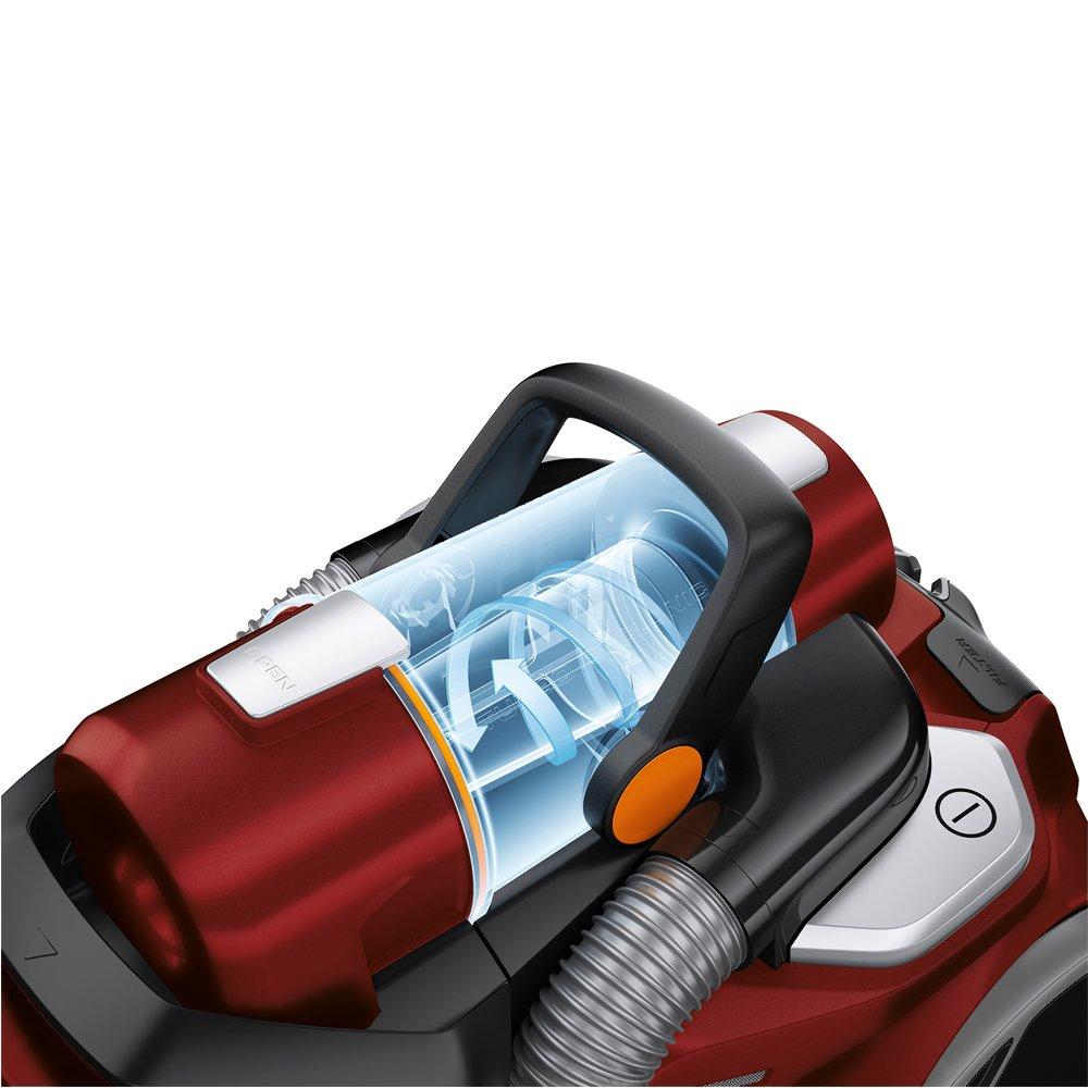Color Rojo Metalizado 75 Decibelios Electrolux Zufparkett UltraFlex Aspirador sin Bolsa AAA 800 W con Cepillo AeroPro Parketto Pro