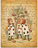 Alice in Wonderland - The Cards Painting the Roses - 11x14 Unframed Alice in Wonderland Print