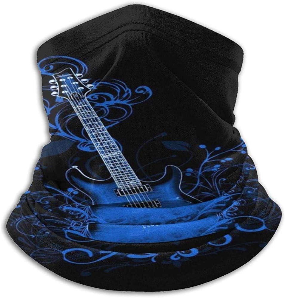 NE Azul Guitarra eléctrica Fondo Cuello Calentador de Cuello Calentador de Cuello de poliéster Ultra Suave Máscara Facial Cuello Sombreros
