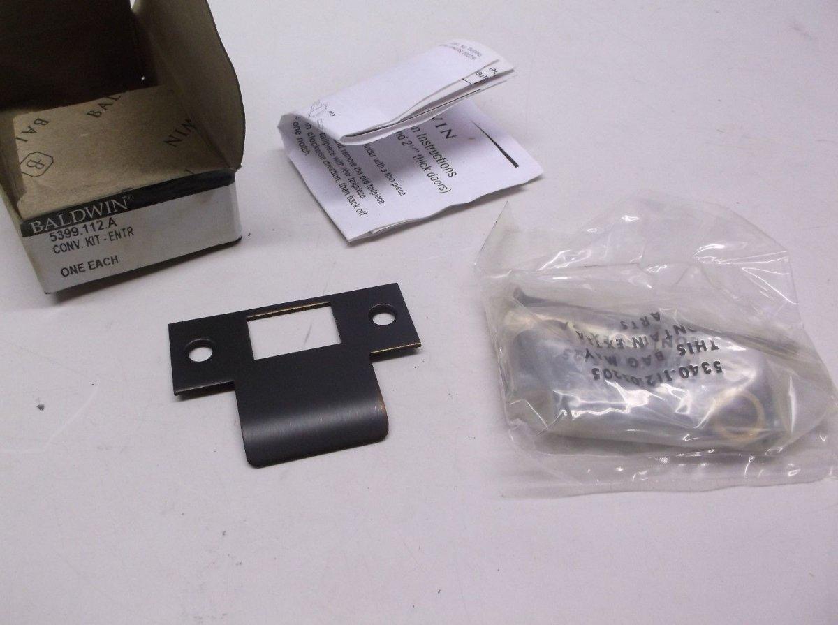 Baldwin Hardware 5399.112.A Thick Door Kit