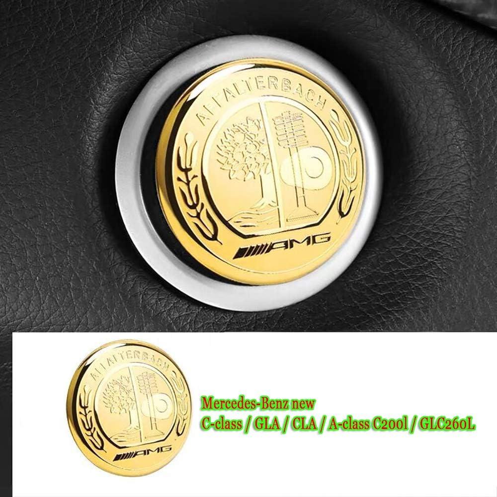GLC260L,Argento Coperchio Pulsante Interruttore Arresto Auto Adesivo di Protezione Adatto per Mercedes-Benz Nuova Classe C//GLA//CLA//Classe A C200l