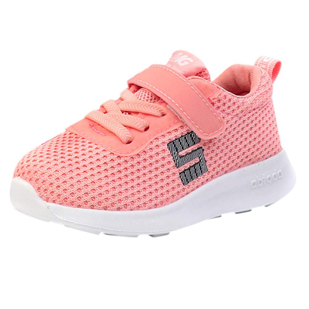 Zerototens Baby Sport Shoes, 1-6 Years Old Boys Girls Trainers Children Letter Mesh Shoes Kids Sport Running Sneakers Shoes Casual Soft Sole Anti-Slip Fitness Shoes