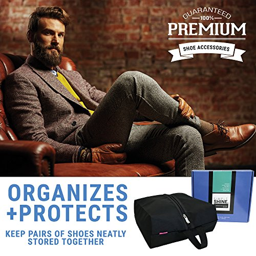 6 Premium Shoe Travel Bags for Women and Men | 3 Large and 3 Medium Nylon Zipper Bags for Storage No Dust by Simple Shine (Image #4)