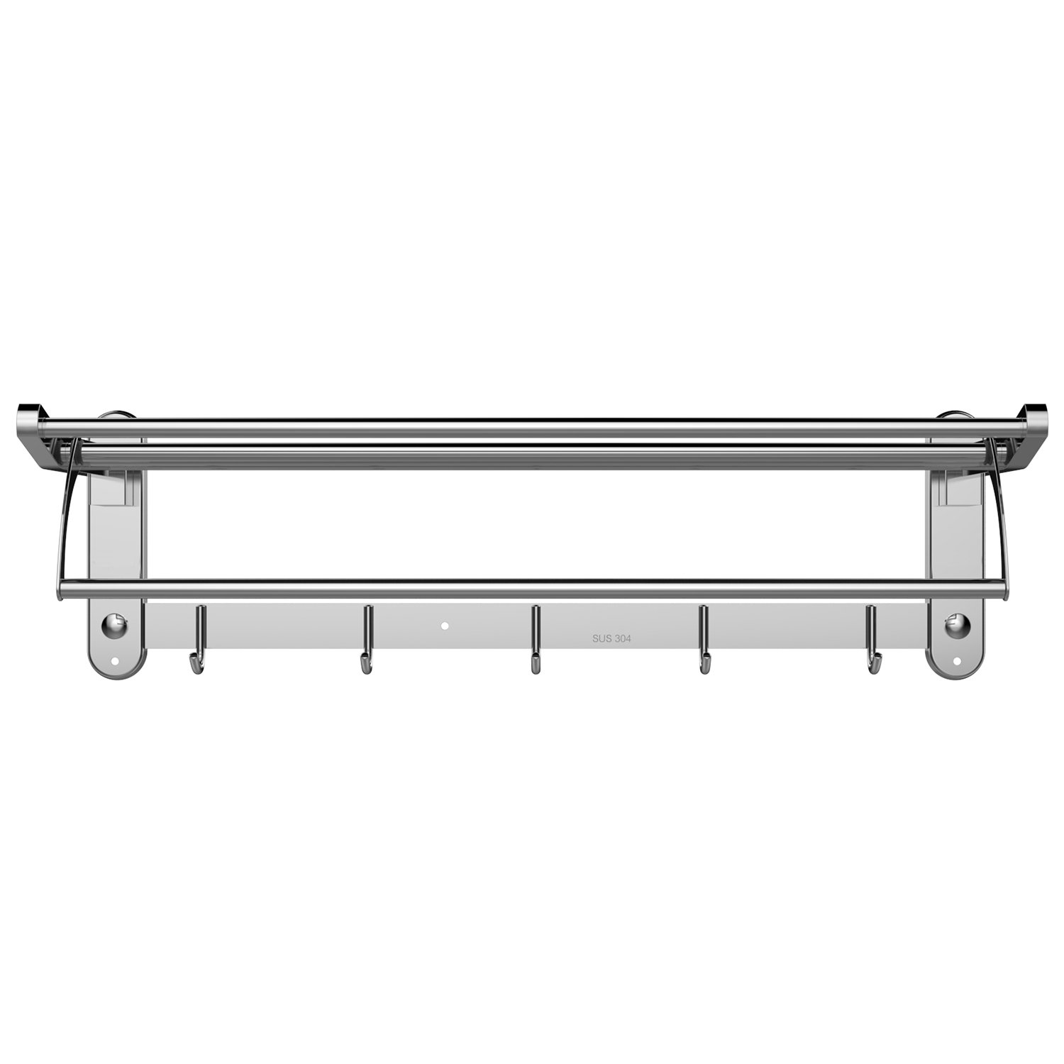 Amazoncom Inmount Towel Shelf Bathroom Towel Bar Stainless Steel Towel