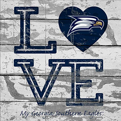 - Prints Charming College Love My Team Logo Square Georgia Southern Eagles Unframed Poster 13x13 Inches
