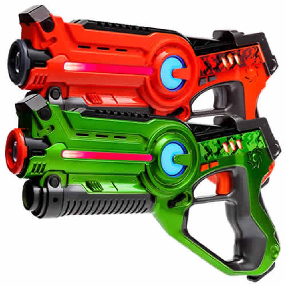 Laser Tag Set Light Battle Active: 1x Lasertag Pistole Grün, 1x Spielzeugpistole Orange - LBAP10212