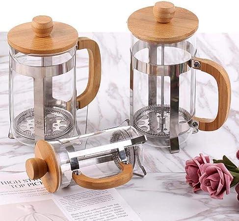 HUANGSAN Cafetera de Vidrio Prensa Francesa Moka Pot Jarra de Leche de té cafetera Espresso Home Cafe Barista Herramienta percolador de Cerveza fría, 350 ml: Amazon.es: Hogar