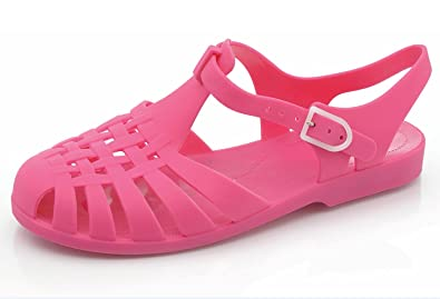 d8a978e33afc Ladies Womens Jelly Shoes Flats Beach Summer Retro Sandals Casual Shoes (UK3