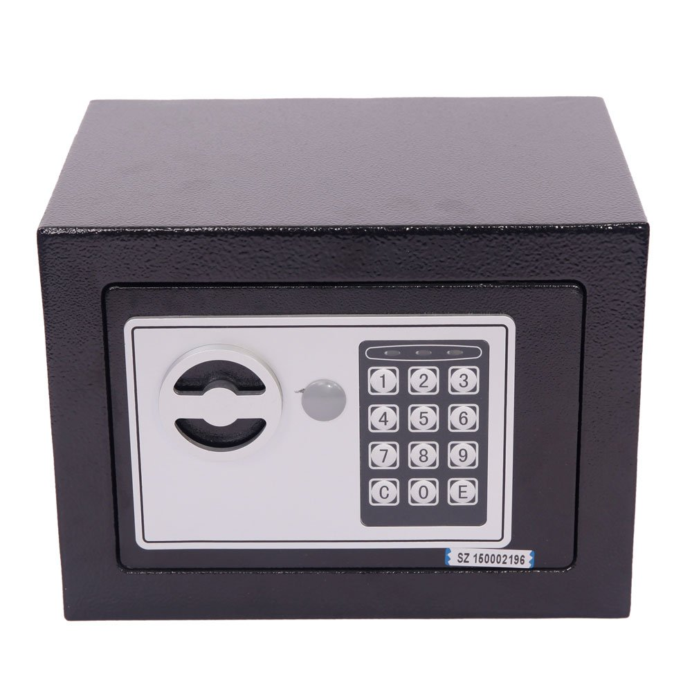 Mefeir 9'' Electronic Digital Security Safe Box Keypad Lock, Home Office Hotel Jewelry Gun Cash Use Storage 1(0.2CF, Without Battery)