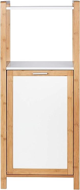 Wenko 50713100 Finja 30 L, bamb/ú, 40 x 95 x 30 cm Estanter/ía con cesto para la Colada Color marr/ón