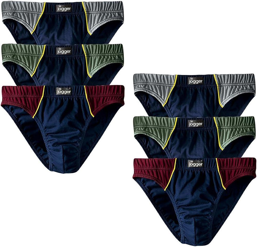 Le Jogger Herren Slips 6er Pack Baumwolle Unterhosen Schl/üpfer
