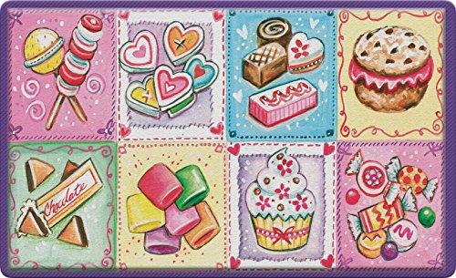 rannie's Goodies 18 x 30 Inch Decorative Candy Floor Mat Cupcake Dessert Doormat ()