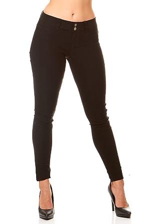 1dca9124741 V.I.P. JEANS Women's soft stretchy white black red navy khaki pants ...