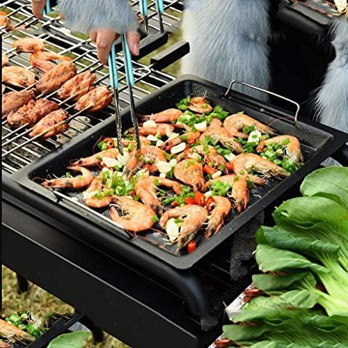 Barbecue Grill-Grille de Barbecue en Plein air pour Plus de 5 Personnes Gril à Charbon de Bois Ensemble Complet d'outils d'étagère de Four en Carbone Sauvage @