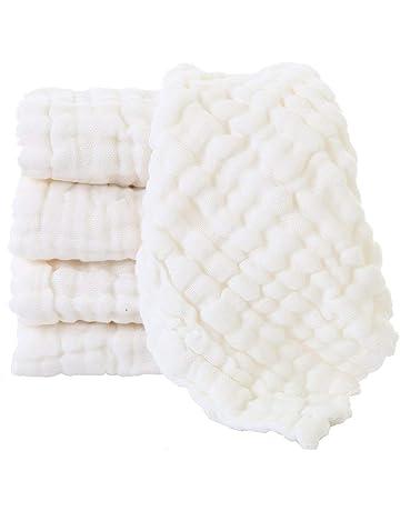 LIUNIAN 5 PACKS Toallitas para bebé de muselina, Toallitas de algodón 100% naturales para